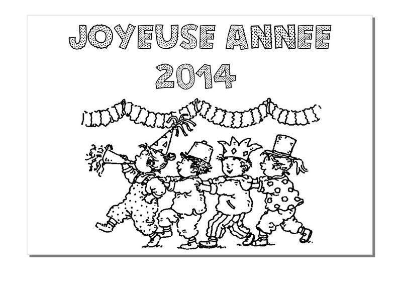 Coloriage bonne ann e 2014 - Bonne annee coloriage ...